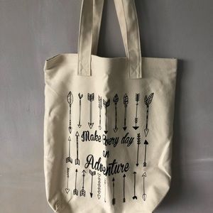 Handbags - brand new make every day an adventure canvas tote